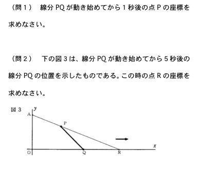 公立高校の数学の高校入試問題(公立高校入試によく出る一次関数の問題)